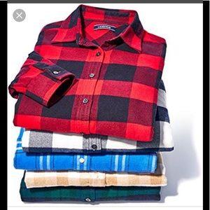 Lands' End women's flannel bundle 3 size large